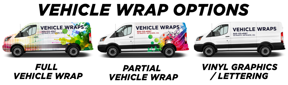 Knightdale Vehicle Wraps vehicle wrap options